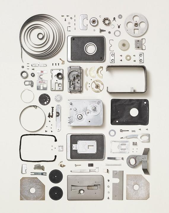 Disassembled brownie camera