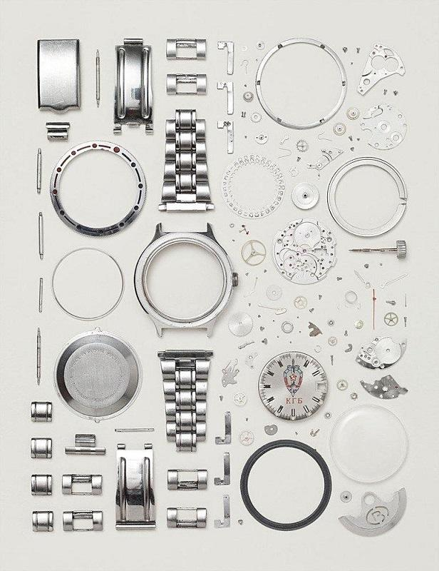 Disassembled Russian watch