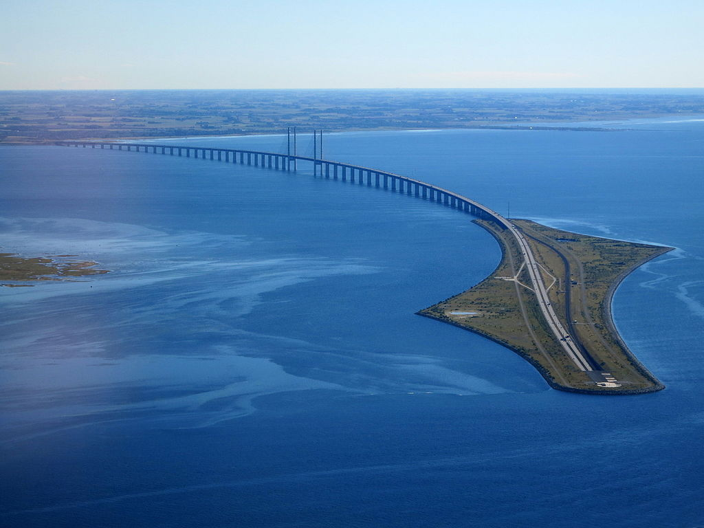 The Oresund link consist of a bridge, tunnel and artificial island