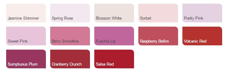 Dulux colour pallette