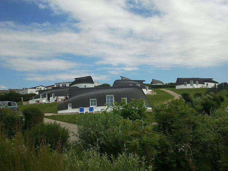 Inverted boat houses in Equihen-Plage