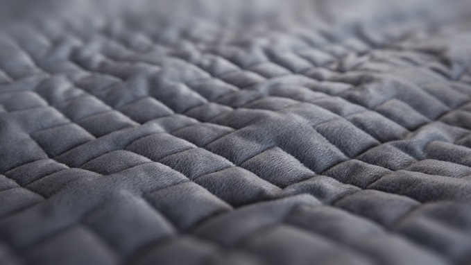 Gravity blanket texture and patterns