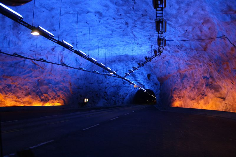 One of the caves in Laerdal tunnel in Norway