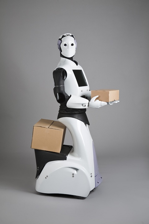 Robot police also has a small built-in platform for carrying things