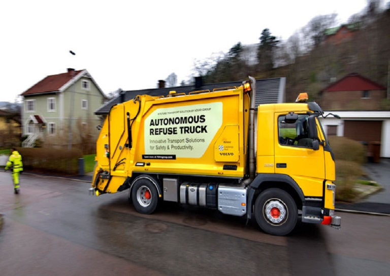 Volvo's self-driving refuse truck for urban use