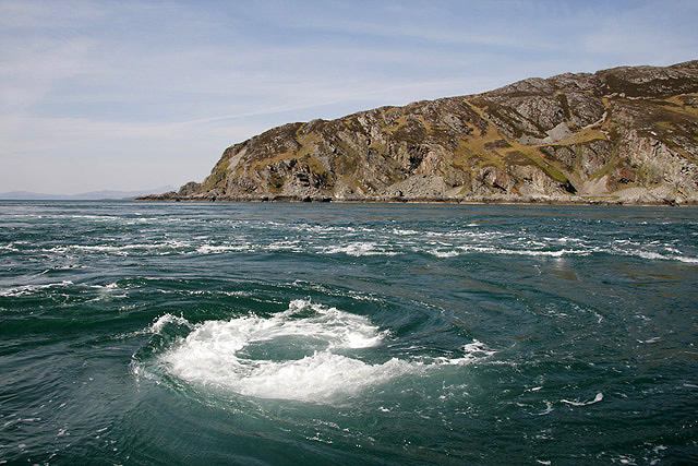 Third largest whirlpool in the world is in Scotland