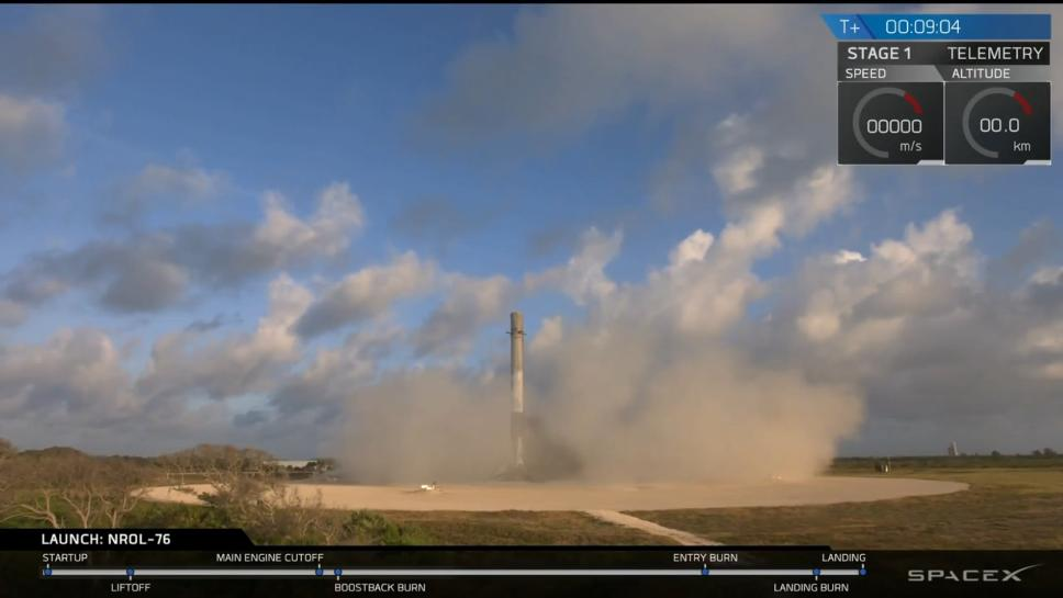 SpaceX Launches Satellite for Secret Mission and Sticks the Landing