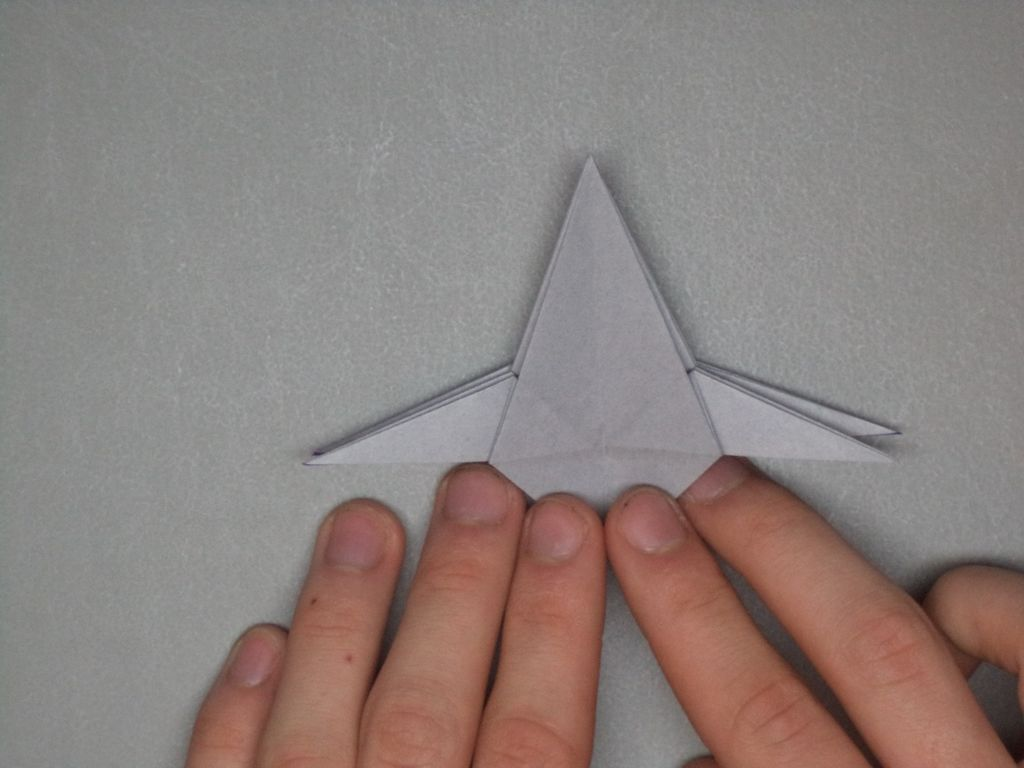 Star Wars X-wing starfighter origami tutorial