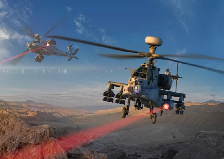 US Air Force Attaches High-Energy Laser to AH-64 Apache Attack Helicopter