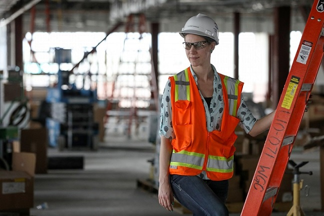 Allison Kassian on site as a project engineer