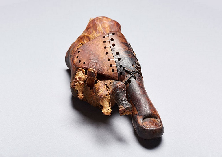 Ancient prosthetic displayed in the Cairo Museum