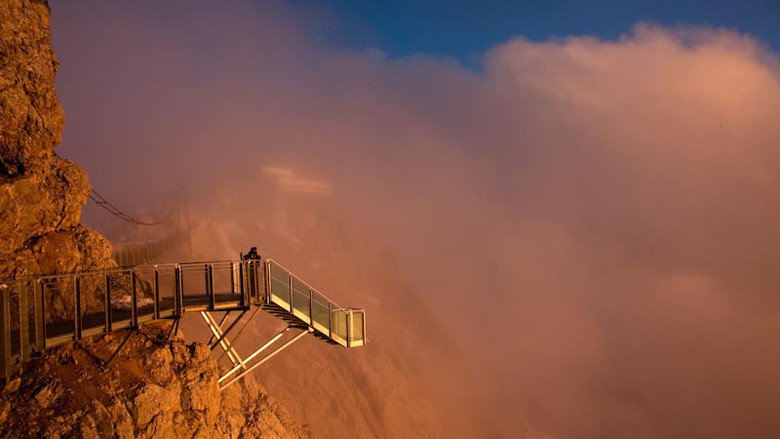 Stairway to nothingness in Austria