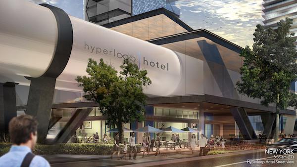 Brandan Siebrecht's render of the Hyperloop Hotel