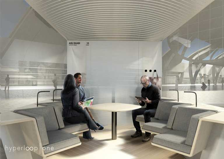 Hyperloop One's pod design looks like a Hyperloop Hotel lounge