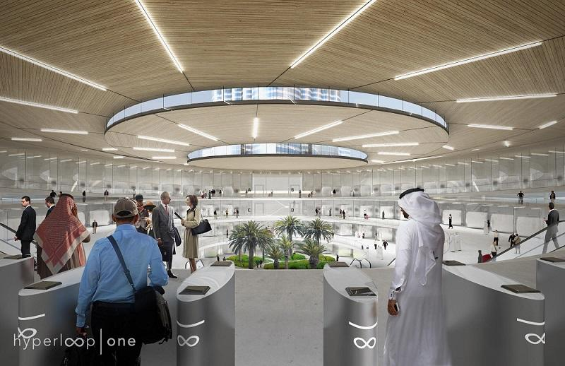 Hyperloop One station in Dubai seems to fit the Hyperloop Hotel concept