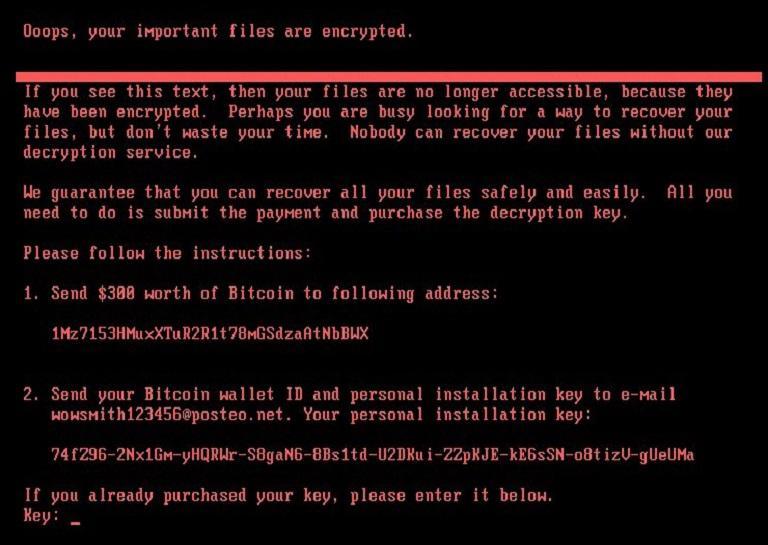 Petya ransomware attack around the world