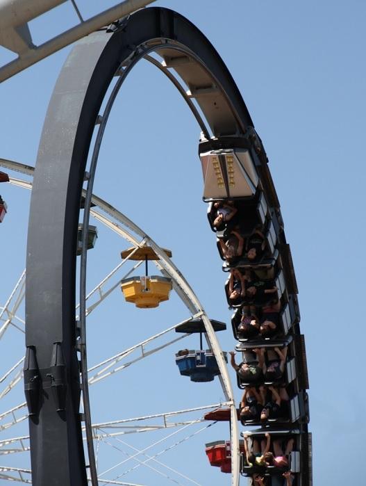 Silver Bullet roller coaster Frontier City