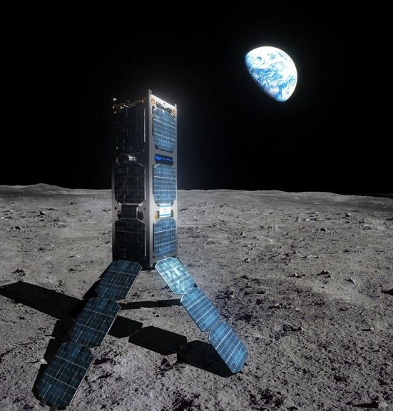 SpaceIL spacecraft on the moon