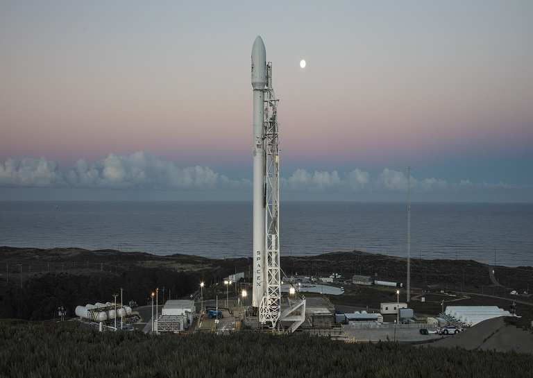 SpaceX's Falcon 9 rocket for the Iridium-1 NEXT mission