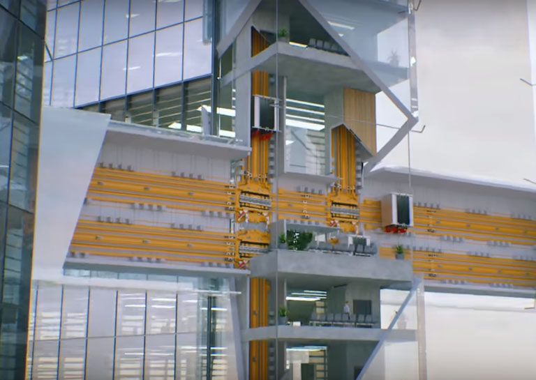 The World's First Ropeless Multi-Directional Elevator Will Be Installed in Berlin