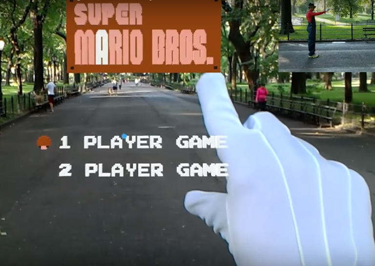 Watch This Guy Play the AR Recreation of Super Mario Bros. in Central Park