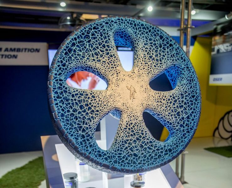 Michelin Unveils Its 3D Printed Airless Vision Concept Tires