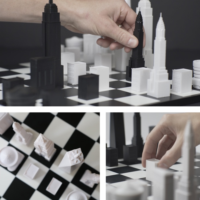 This Extraordinary Chess Set Features Iconic New York City Buildings