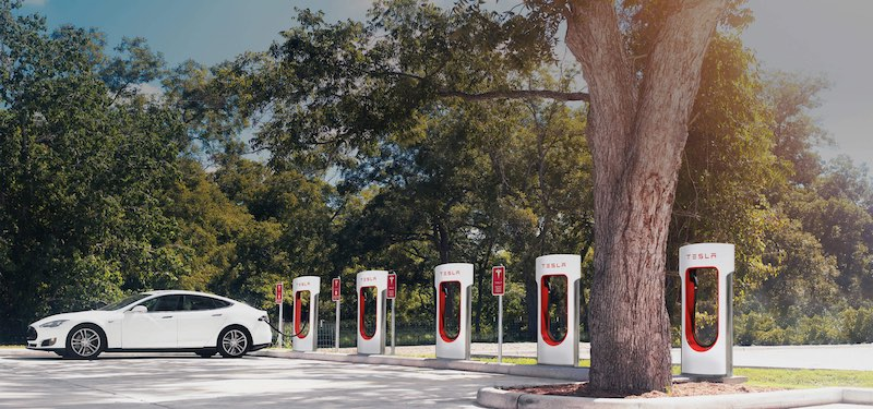 Elon Musk Says Almost All Tesla Superchargers Will Go Off-Grid