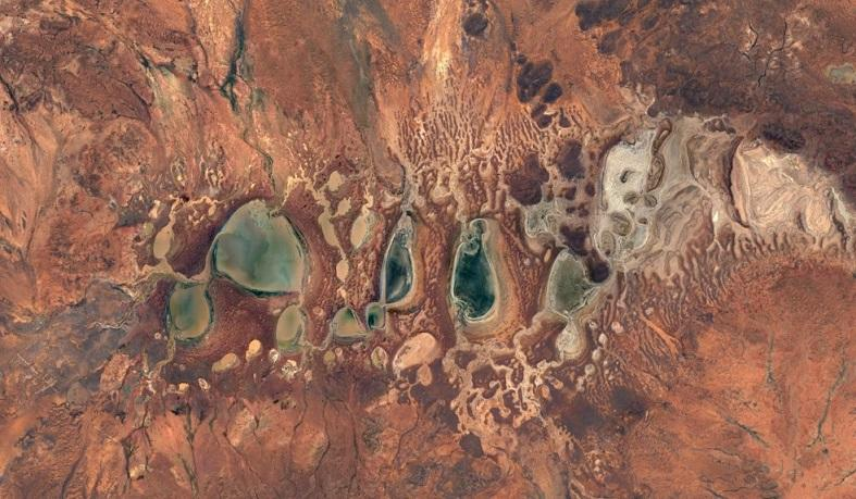 Great Sandy Desert in Australia from Google Earth