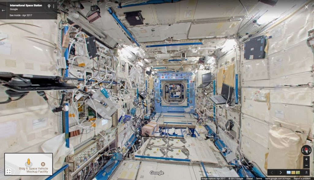 You Can Now Take a Tour Through the ISS Thanks to Google Street View