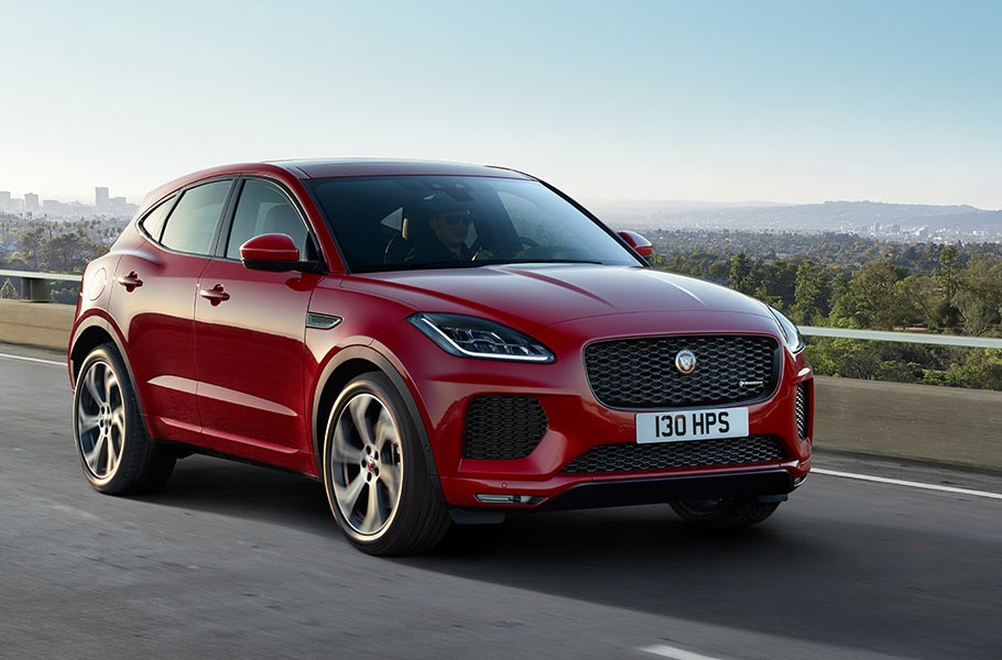 Jaguar E-Pace SUV in red