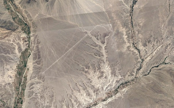 Nazca Lines via Google Earth