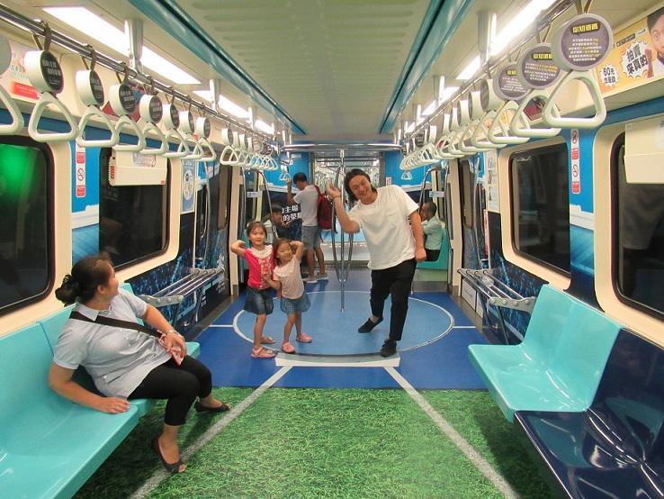 Taipei Universiade sports venue design on trains