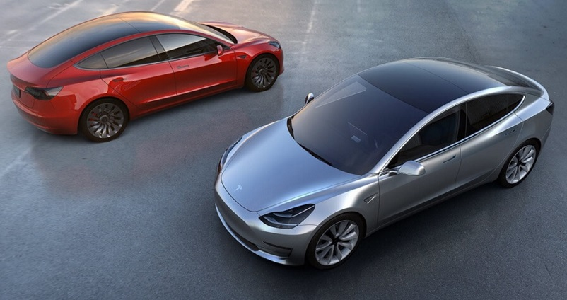 Tesla Model 3 in color