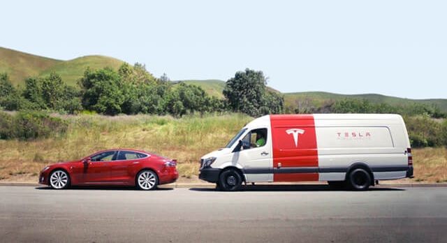 Tesla service added 350+ new vans to their fleet