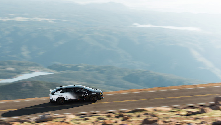 Watch Faraday Future FF91 Beat Tesla's Pikes Peak Record by 23 Seconds