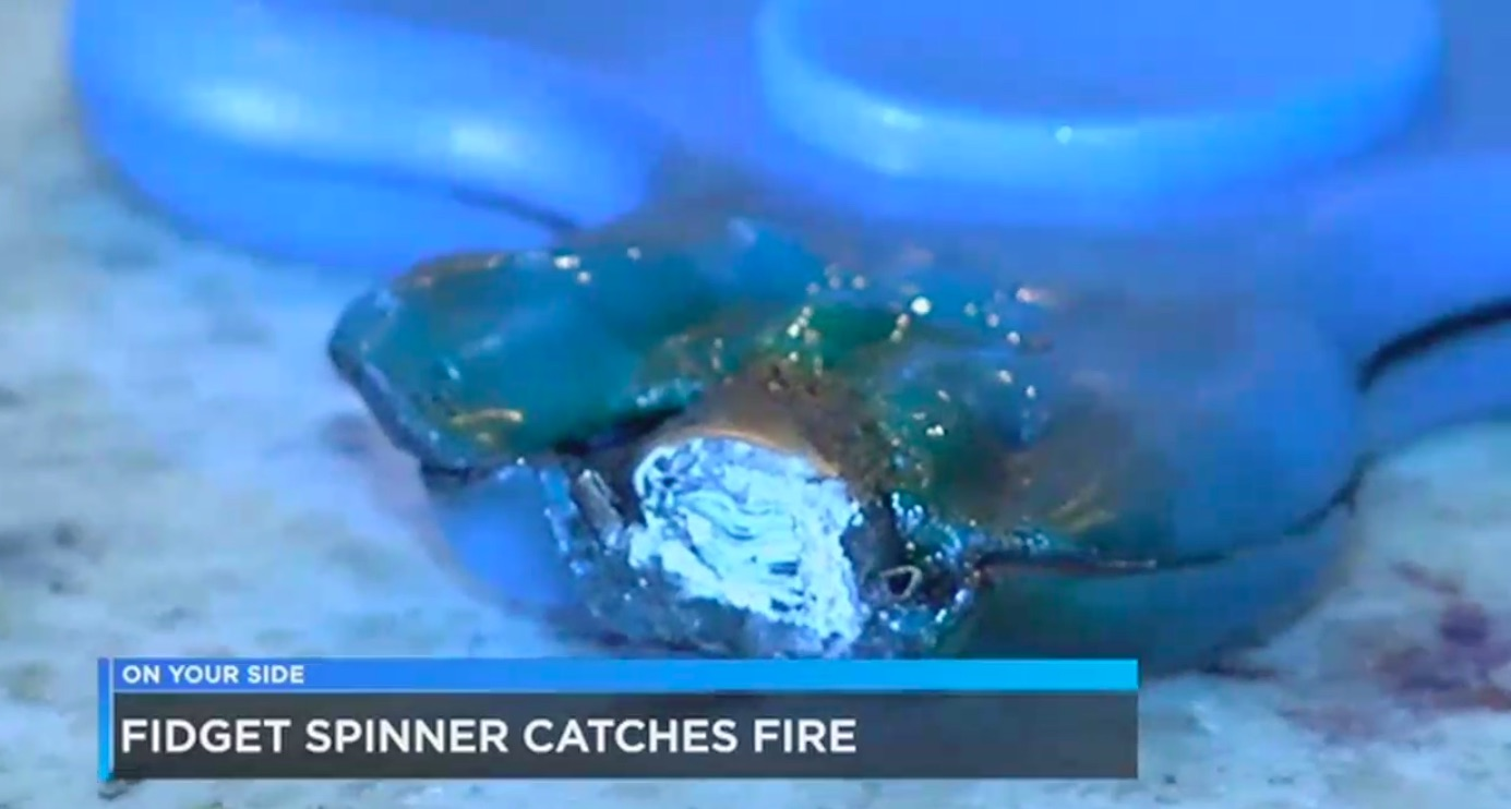 Fidget Spinners Are Now Bursting Into Flames and Terrifying Children
