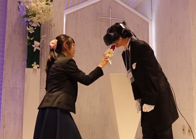 Japanese Man Marries His Favorite Virtual Reality Anime in a Real Chapel