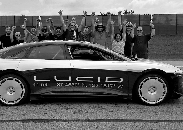 Watch Lucid Motors' Tesla Rival Prototype Hit a Staggering 235mph