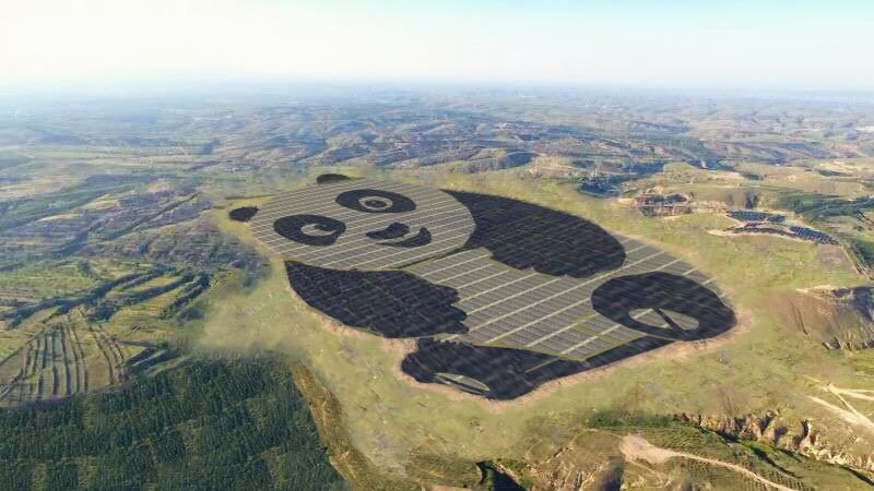 This Panda-Shaped Solar Power Plant Just Went Online in China