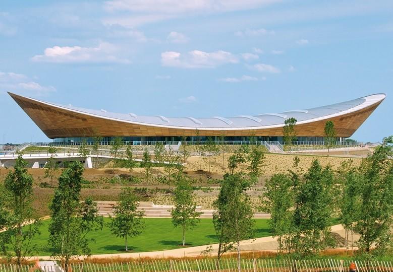 London Velodrome's hyperbolic paraboloid roof