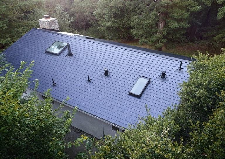 Newly installed Tesla Solar Roof