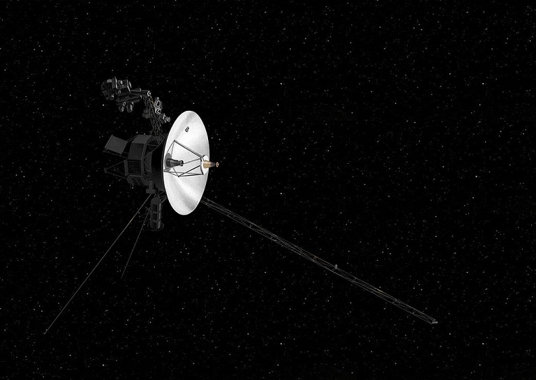 NASA Voyager spacecraft and Saturn