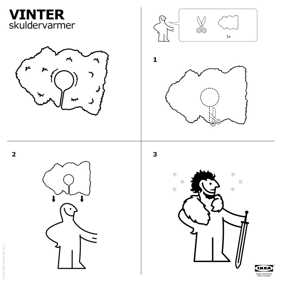 Ikea Shows How to Make Your Own Jon Snow Cape Out of a Rug