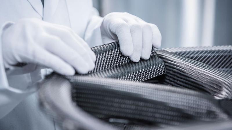 Porsche Uses the World's Largest Radial Braiding Machine to Create Carbon Fiber Wheels
