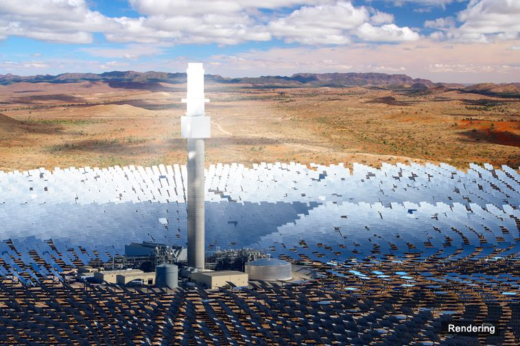 South Australia Will Be Home to the World's Biggest Single-Tower Solar Thermal Power Plant