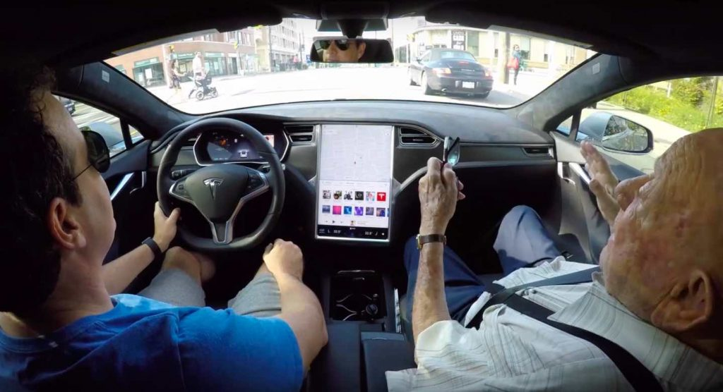 This Man Took His 97-Year-Old Grandfather for a Ride in His New Tesla Model S