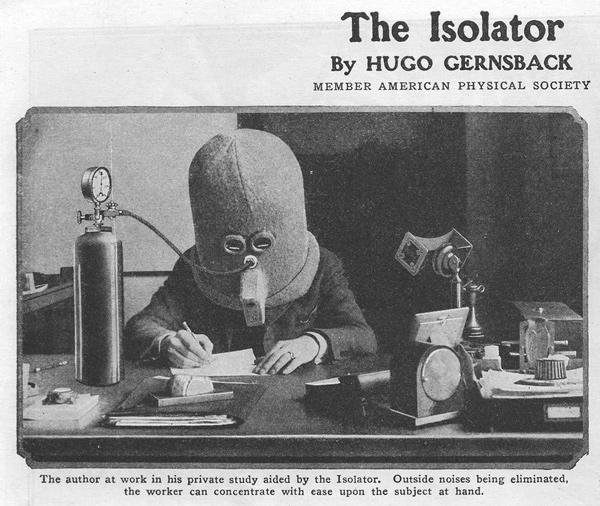 This Vintage Anti-Distraction Helmet Looks Like a Creepy Horror Show Prop