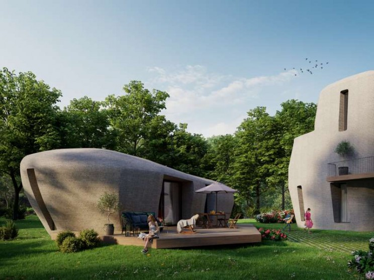 3D concrete printed houses on demand