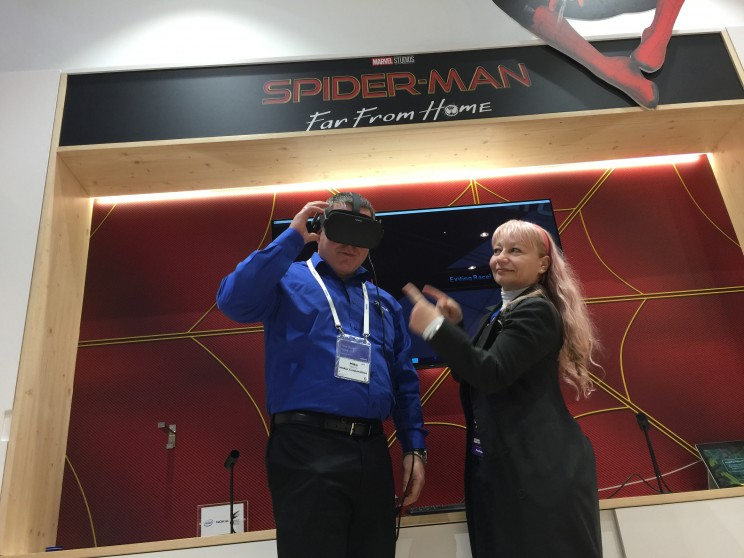VR Spiderman over 5G